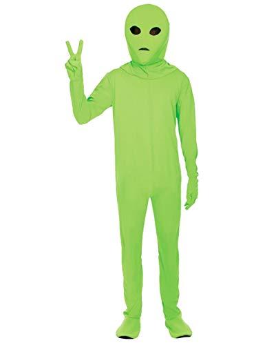 ORION COSTUMES Disfraz de Extraterrestre Verde Leotardo Espacial para Hombres
