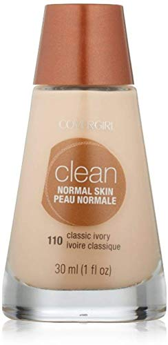 CoverGirl Clean Liquid Makeup, Classic Ivory [110], 1 oz (Pack of 3)