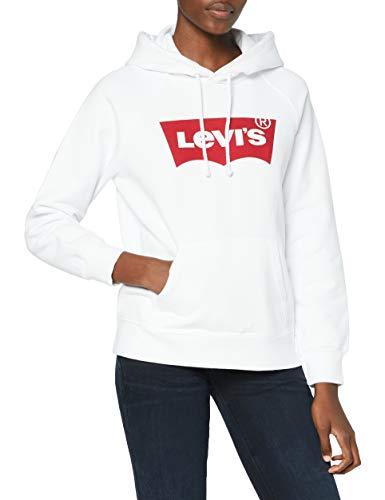 Levi's Graphic Sport Cappuccio, Housemark Hoodie White, M Donna