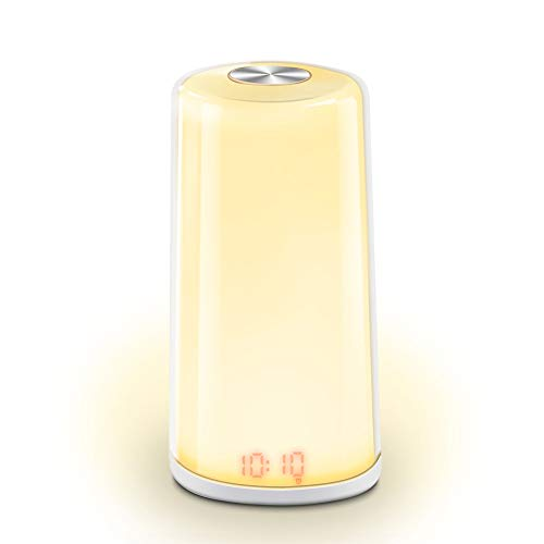 Jiayi wekker met sensor, digitale klok, analoog, wekker, licht 5 wandklok, natuur, multifunctioneel
