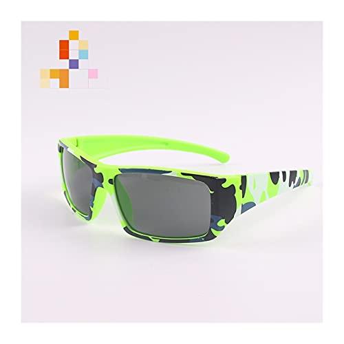 JSJJARD Gafas de Sol Gafas de Sol de Colores para niños Camuflaje para niños antejores niños Square Baby Shades Black Lenses UV 400 Sports Eyewear 2021 Caliente