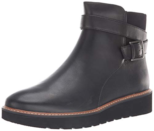 Naturalizer Women's Aster Ankle Boot, Black Leather, 5 M US