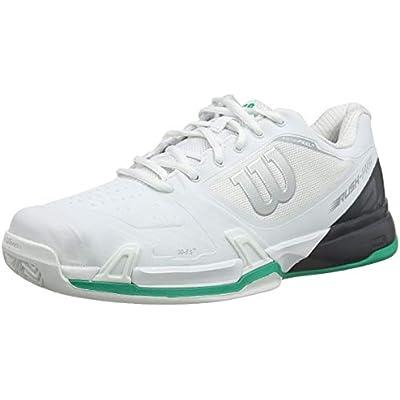 Wilson Rush Pro 2.5 2019 CC, Zapatilla de Tenis para tenistas de Cualquier Nivel, para Superficies de Tierra Batida, sintético, para Hombre, Blanco/Gris/Verde, Talla 40 1/3 EU