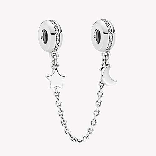 FUNSHOPP 2018 Invierno Plata 925 Personal Galaxy Saftey Cadena DIY encaja para pulseras originales Pandora Charm Fashion Jewelry