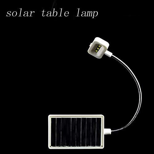 Abongone tafellamp, op zonne-energie, praktisch, multifunctioneel, hoogwaardig, met 3 leds, stroomvoorziening via zonne-lampen voor kantoor of USB-kabel