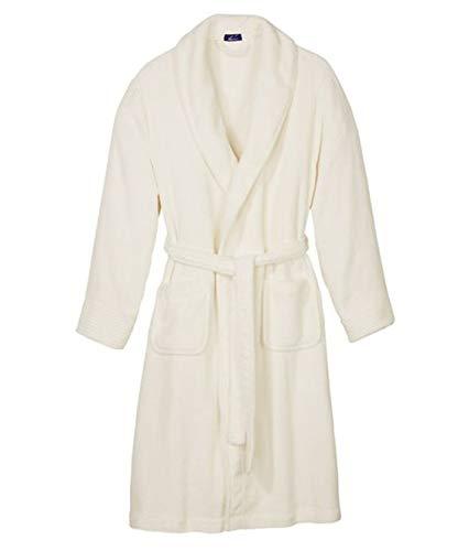 Badjas voor dames van hoogwaardige microvezelkwaliteit kuitlengte met sjaalkraag
