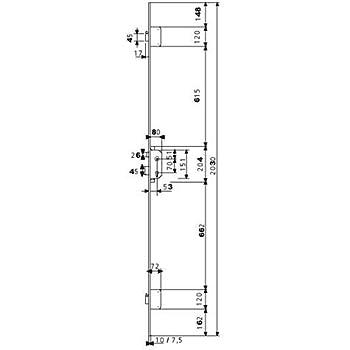 TFB7Q 3012451 Cerradura Multipunto de Embutir