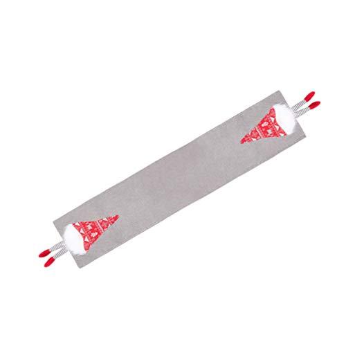 Tomaibaby Corredor de Mesa de Navidad Gris Mantel de Felpa Patrón de Tomte Sueco Hoilday Mantel de Lino de Lujo Camino de Mesa para Navidad Decoraciones de Mesa para El Hogar