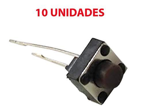 10x Micro Pulsador Interruptor SWITCH 6x6x5 mm PCB 2 PINES LARGOS