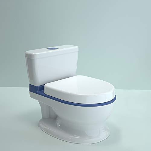 LK-HOME Toilette De Pot pour Les Enfants, Tout-Petit Potty WC - Jouet D'aide À La Formation De Pot Éducatif, avec Musique Et Son De Chasse d'eau,Bleu