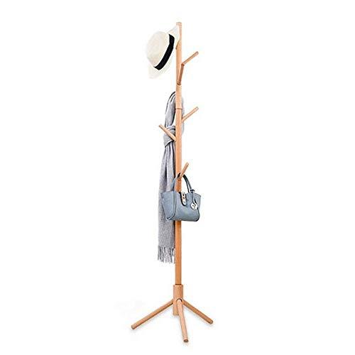 PYROJEWEL el Norte de Europa Estante de la ropa del hogar de madera maciza Perchero piso del estante del estante simple Escudo creativo Muebles Europea de Libre Permanente rack for el dormitorio de la