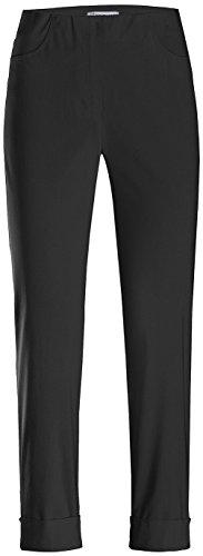 Stehmann Igor-680, sportive 7/8 Damenhose, in vielen weiteren Farben erhaeltlich, Größe 48, Farbe Schwarz
