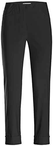 Stehmann IGOR-680 14060-900, sportive Damenhose mit aufgesetzten Taschen und Aufschlag, 6/8 Länge, Größe 40, Farbe Schwarz