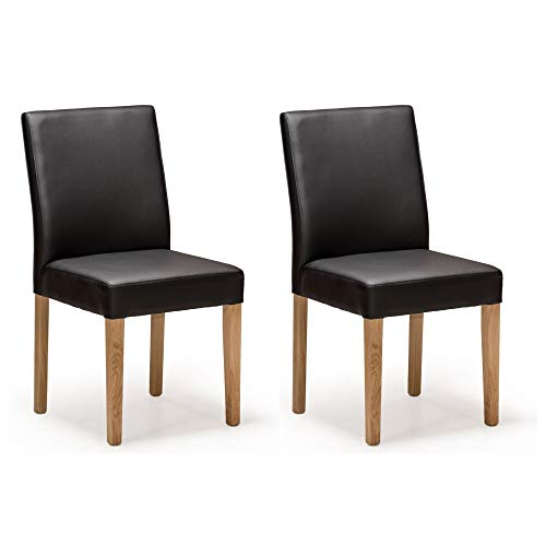 Amazon Brand Linda Ensemble de chaises Chêne sauvage huilé naturel 48 x 57 x 93 cm