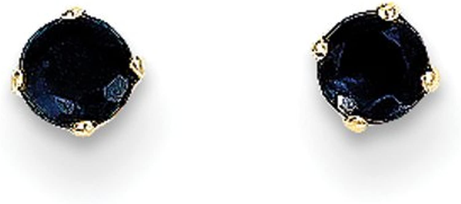 gold and Watches 14k 3mm September Sapphire Post Earrings
