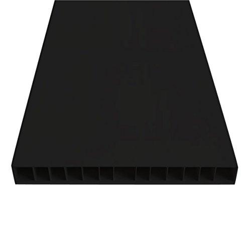Kartell 476509 lange plaat, 35,5 x 74,5 x 3,5 cm, plastic zwart