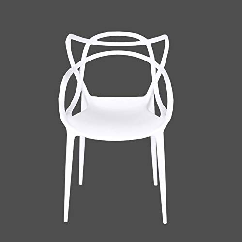 HJFGIRL Sedia in Rattan Sedia Creativa alla Moda, Sgabello Robusto e Durevole Sgabelli in Stile Vintage per Bar, Pub, Cucine Domestiche e Ristoranti,White