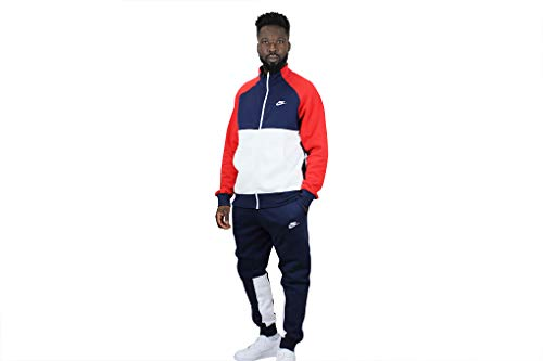 Nike Sportswear Chándal, Hombre, Midnight Navy/University Red/White/White, XL