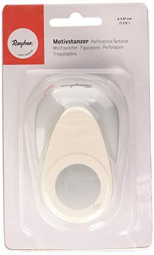 Rayher fustellatrice per carta, punzonatrice carta, perforatrice, grammatura fino 200 g/m², motivo cerchi, scrapbooking, diametro ø 3,81 cm /1,5 pollici.