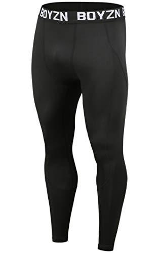 スポーツタイツ メンズ オールシーズン コンプレッションウェア パワーストレッチ アンダーウェア ロングパンツ ランニングタイツ レギンス メンズ スポーツ 吸汗速乾 コンプレッションタイツ ブラック Black-M