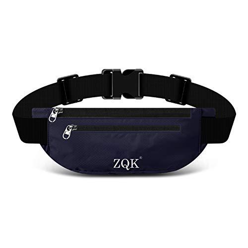 Laufgürtel Schlüssel Hüfttasche, Lauftasche für Handy, Sport Jogging Fitness Gürtel iPhone 6 7 Plus + Samsung Galaxy S7 Edge S8 + Plus Huawei HTC ZTE UVM. (Dunkelblau)