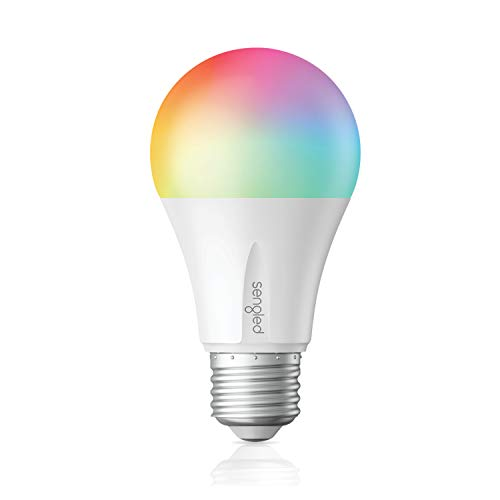 Sengled - Elemento de color plus Smart Bombilla LED Bombilla de luz cambiante de color A19, RGBW 16 millones de colores y blanco ajustable 2000-6500K, funciona con Alexa / Echo Plus / S