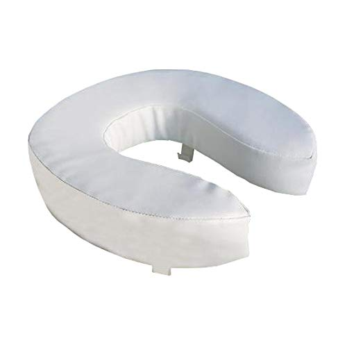 UK Care Direct siège de Toilette surélevé et rembourré, White, 2 inch (5cm)