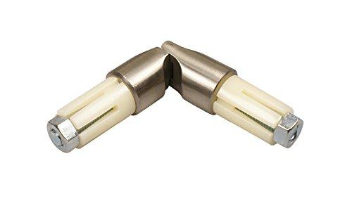 iso-design Edelstahl Gelenkverbinder für 16 mm Ø Gardinenstangen