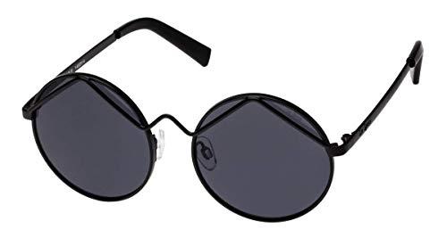 Prince Of Darkness Ozzy Osbourne Brille, Kostüm, schwarz gerahmt, schwarze UV-Gläser, runde Brille