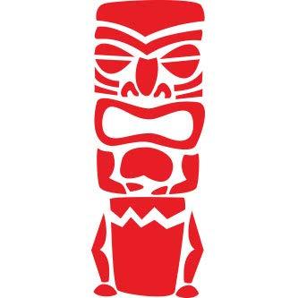 Pegatina Promotion Tiki Figur Maori 20 cm Aufkleber Sticker Autoaufkleber Wandtattoo Surf Kite Surfen Wassersport Fun Sea