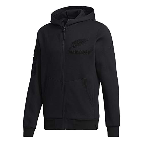 adidas All Blacks New Zealand Full Zip Hoody (XL, Black)