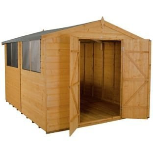 Forest Shiplap Apex 8 x 10ft Double Door Shed with Inst.