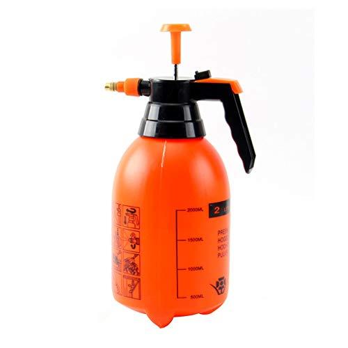 XDRE Leere Kosmetik 2L / 0,5 Gallon Handdruck-Trigger-Sprühflasche Einstellbare Copper Düsenkopf manuelle Kompression Pumpe Sprühflasche Nachfüllbare Reise (Color : Orange)