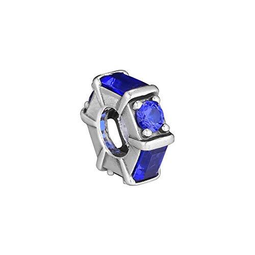 Pandora 925 Plata de Ley DIY Joyería CharmIce Escultura Espaciador Cuentas Encantos Azul CZ Joyas Perlas Se adapta a la pulsera Collar baratija