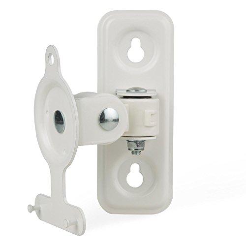 auna PlayMount 3 Speaker-Wandhalterung Lautsprecherhalterung Wandhalter für Boxen (2,6 kg Belastbarkeit, schwenkbar bis 90°, neigbar von +90° bis -85°) weiß