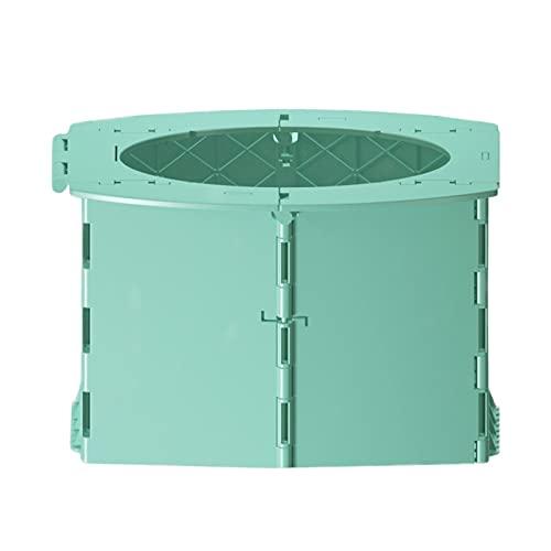 Inodoro Plegable portátil, Asiento de Inodoro con Inodoro de Coche Plegable Verde portátil para Acampar Taburete Plegable Ligero para Inodoro de Viaje para Adultos y niños