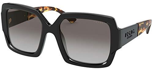 Prada Women's 0PR 21XS Sunglasses, Black/Light Grey Shaded, 54