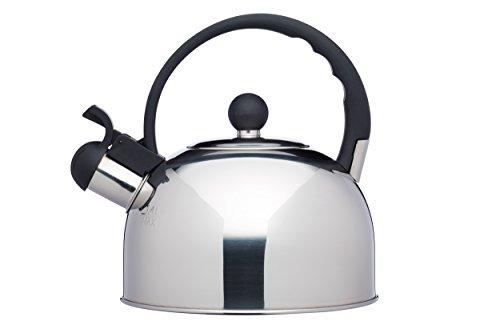 KitchenCraft Le Xpress Bollitore a fischio, 1.3 L, Acciaio Inossidabile, Argento, 18.2 x 18.2 x 20.3 cm