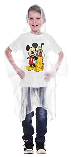 Disney Mickey Mouse Pluto Rain Poncho Hoodie (Mickey and Pluto, Youth)