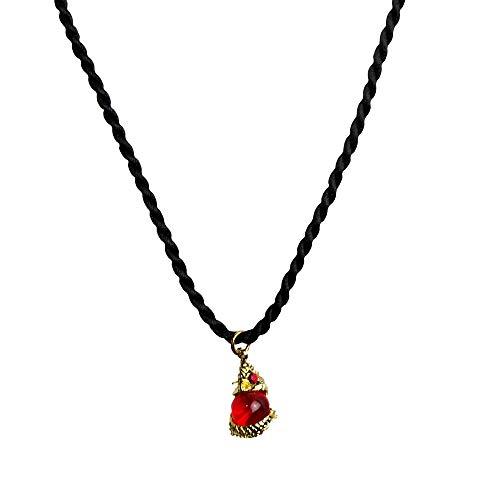 Heavens Tvcz Buddha Amulet Naga Mini Dragon Eyeball Red Pendant Blessed Magic Necklace Rope Thai Handmade Amulet Luck Magic Powerful Enhance Good Fortune Wealth