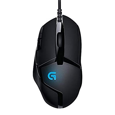Logitech G402 Hyperion Fury Wired Gaming Mouse, 4,000 DPI, Lightweight, 8 Programmable Buttons, Compatible with PC / Mac - Black by Logitech