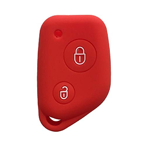 Funda FBFGKey para Citroen Berlingo Xsara Picasso Saxo 2 Botones Funda de Silicona para Llave para Peugeot 106205206306405406 Funda para Llave de Coche