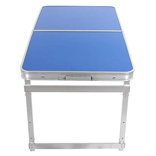 keyren Tragbarer Schreibtisch Hochwertiger Aluminium-Klapptisch, Stabiler Schreibtisch, leicht zu reinigender 120x6o-Beintisch, Haus im Freien