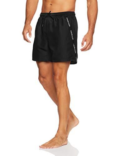 Calvin Klein Herren MEDIUM Drawstring Badehose, Schwarz (Black 001), (Herstellergröße: M)