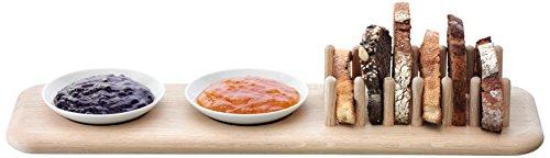 LSA International 47 cm Dine Set Porte-Toast en chêne, Blanc