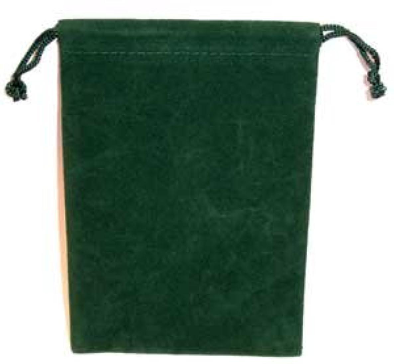 Bag Velveteen 4 x 5 1/2 Green by AzureGreen
