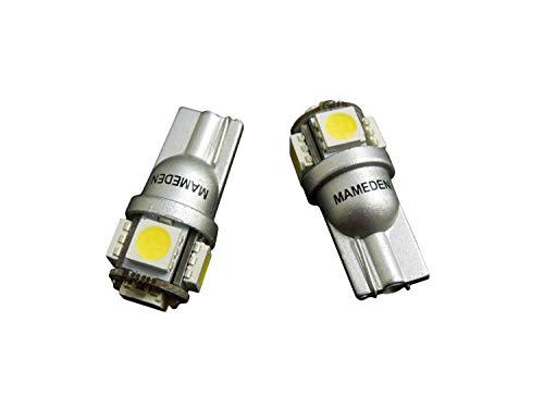 まめ電(MAMEDEN) T10 LED ホワイト 白 5050 3チップ 5連SMD ポジション ナンバー ルームランプ(ウェッジ シ...
