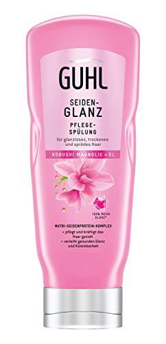 Guhl Seidenglanz Pflege Spülung/Conditioner - mit Kobushi-Magnolie - kräftigt das Haar langanhaltend - glättet die Haarstruktur, 200 ml