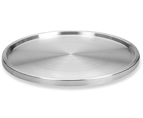 1 Tier Lazy Susan by Lovotex: Stainless Steel 360 Degree Turntable – Rotating 2-Level Tabletop Stand for Your Dining Table, Kitchen Counters and Cabinets – Turning Table Spice Rack Organizer Tray