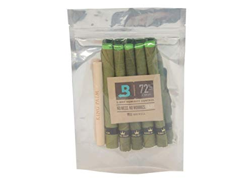 Price comparison product image King Palm KING XXL Size Natural Pre Wrap Palm Leafs (1 PACK OF 5,  5 ROLLS TOTAL) - Pre Rolled Cones - All Natural Cones - Corn Husk Filter - Preroll Cones - Prerolled cones with Filter - Organic Cones